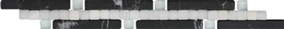 Beschreibung: Schwarz/Weiß Format: 3x25  cm. Material:  Naturstein, Glas