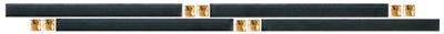Beschreibung: Schwarz/Gold Format: 2,5x5  cm. Material:  Steingut