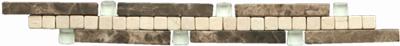 Beschreibung: Beige/Braun Format (Matte/Einzeln): 3x25 cm. Material: Naturstein, Glas
